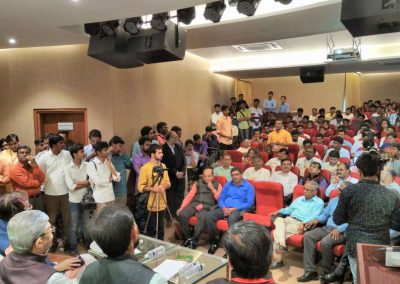 HRD Minister Prakash Javdekar addressing the DIPEX winners